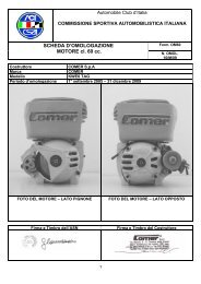 SCHEDA D'OMOLOGAZIONE MOTORE cl. 60 cc.