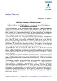 ASTRA und arvato mobile kooperieren