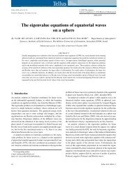 The eigenvalue equations of equatorial waves on a sphere - Tellus A
