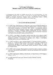 Az Országos Tudományos Diákköri Tanács szervezeti és működési ...