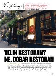 Legendarna kavana i restoran u centru Pariza mjesto je u koje se ...