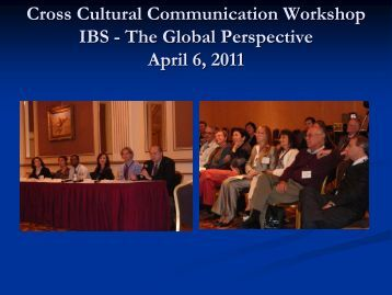Cross Cultural Communication Workshop IBS - The Global ...