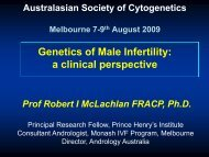 Genetics of Male Infertility: a clinical perspective - RCPA