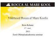 Väärtused Rocca al Mare Koolis - Eesti Olümpiaakadeemia
