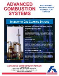 Incinerator Gas Cleaning Systems - ACS, Inc
