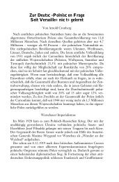 Zur Deutsch-Polnischen Frage - Seit Versailles nichts gelernt