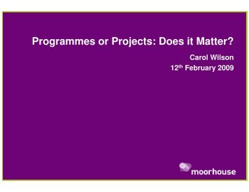 Does it Matter? - Association for Project Management