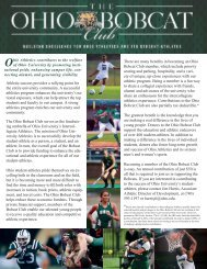 The Ohio Bobcat Club - Ohio University Alumni Association