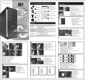 User Manual - Xigmatek