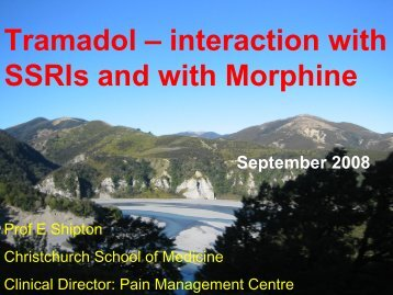 Tramadol – interaction with SSRIs and with Morphine