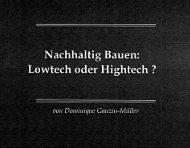 Nachhaltig Bauen: Lowtech oder Hightech ? - architektur-kuess.at ...