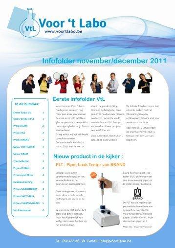 Eerste infofolder VtL - t Labo