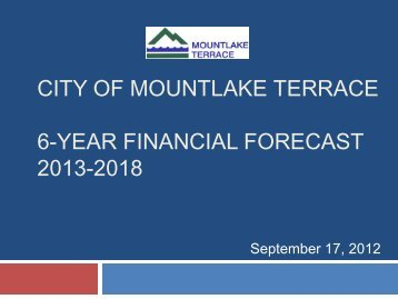 Presentation - City of Mountlake Terrace