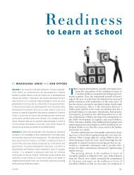 Readiness to learn at school. - Offord Centre for Child Studies