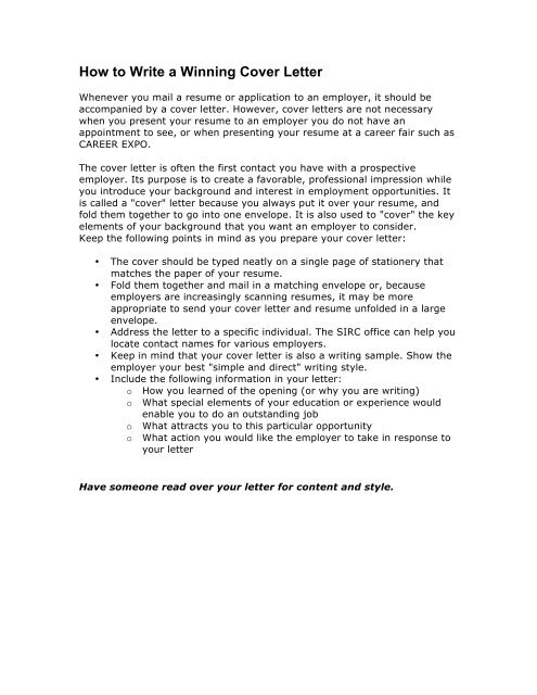 How To Start A Letter To Someone.How To Write A Winning Cover Letter The School Of