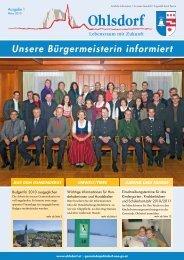 Unsere Bürgermeisterin informiert - Gemeinde Ohlsdorf