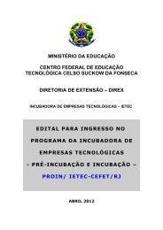 Edital - CEFET/RJ – Portal de Notícias