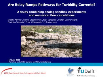 Are Relay Ramps Pathways for Turbidity Currents? - csdms