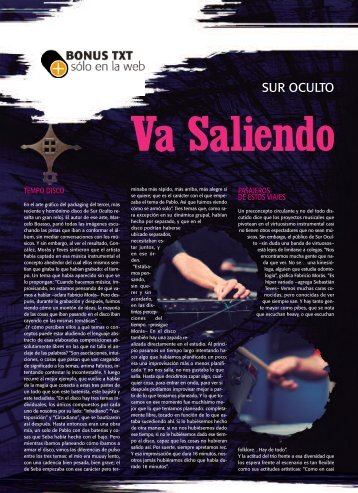 Bonus Sur Oculto - Revista La Central