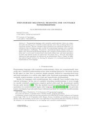 STEP-INDEXED RELATIONAL REASONING FOR COUNTABLE ...