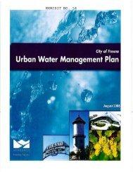 Urban Water Management Plan - Department of Water Resources