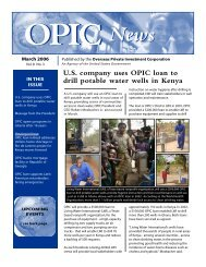 U.S. company uses OPIC loan to drill potable water wells in Kenya