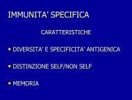 IMMUNITA' SPECIFICA - Omero