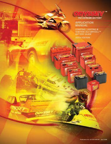 APPLICATION MANUAL - Odyssey Batteries