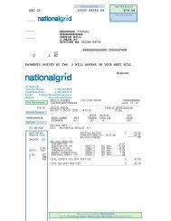National Grid - Sample Bill Residential