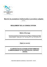 REGLEMENT DE LA CONSULTATION - Communauté de ...