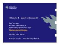 E-lomake 3 - Uudet ominaisuudet - Helsinki.fi