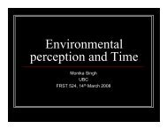 Environmental perception and Time - Ideal.forestry.ubc.ca