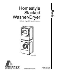 Homestyle Stacked Washer/Dryer Parts Manual - UniMac