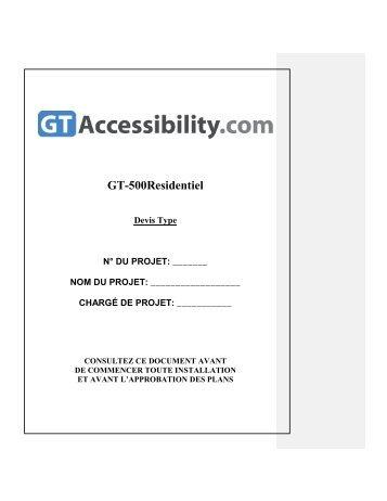 GT 500R - Global Tardif Groupe manufacturier d'ascenseurs
