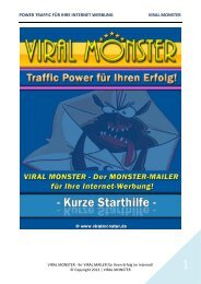 power traffic für ihre internet werbung viral monster