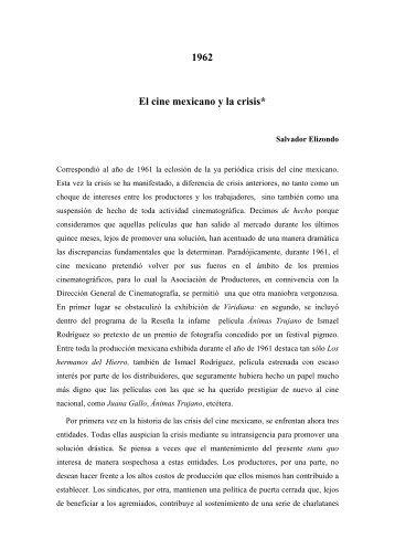 1962 El cine mexicano y la crisis* - Fundación del Nuevo Cine ...