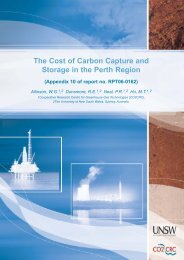 The Cost of Carbon Capture and Storage in the Perth ... - CO2CRC