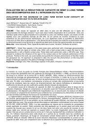 évaluation de la réduction de capacité de débit à long terme des ...