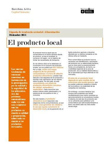Cápsula sectorial de Alimentación: el producto local