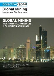 Global Investment Conferences Abu Dhabi - Objective Capital ...