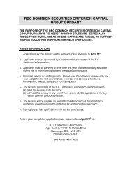 rbc dominion securities criterion capital group bursary