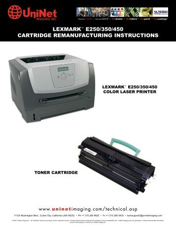 lexmark™ e250/350/450 cartridge remanufacturing instructions