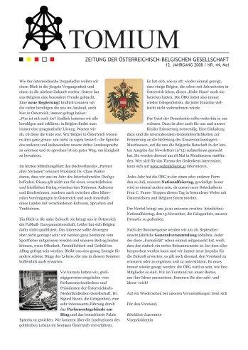 TOMIUM - Österreichisch-Belgische Gesellschaft