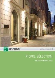 Rapport annuel - Pierre Sélection - 2011 - BNP Paribas REIM