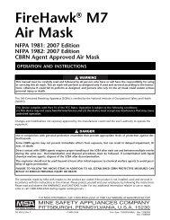 MSA_Firehawk_M7_Mask.. - SOLD