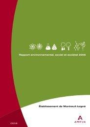 Établissement de Montreuil-Juigné Rapport ... - AREVA