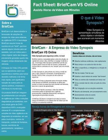 Fact Sheet: BriefCam VS Online - CommLogik