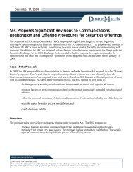 Alert - SEC Proposed Securities Offerings Rules - Duane Morris LLP