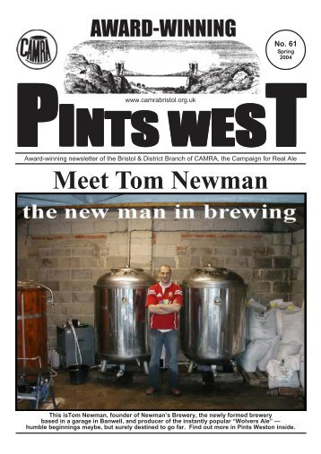 Meet Tom Newman - Bristol & District CAMRA