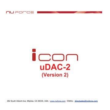 Icon uDAC2 User Manual - VMAX Services